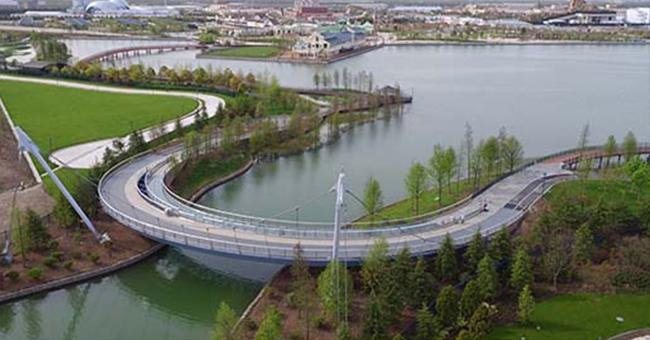 上海度假村区迪斯尼景观桥