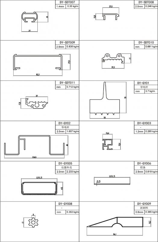 SDT工业材系列型材简图